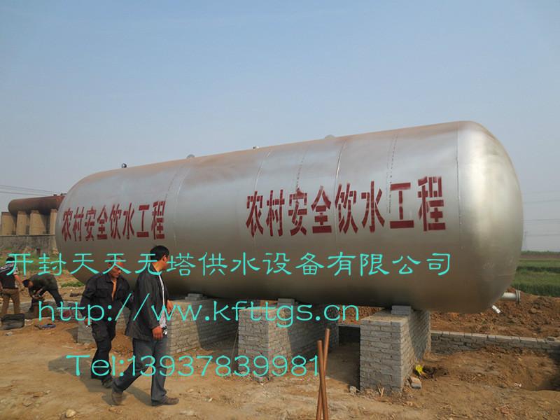 农村井式无塔供水设备配置以及压力检测方法